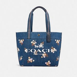 Coach TOTE WITH PAINTED FLORAL BOX PRINT